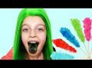 Baby kids takes lollipops tantrum crybaby Learn colors Finger Family songs for kids in real life