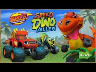 ВСПЫШ и Чудо МАШИНКИ. Игра скорость в долине Динозавров.