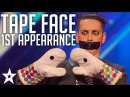 Tape Face 1st Appearance | America's Got Talent 2016 Finalist | Got Talent