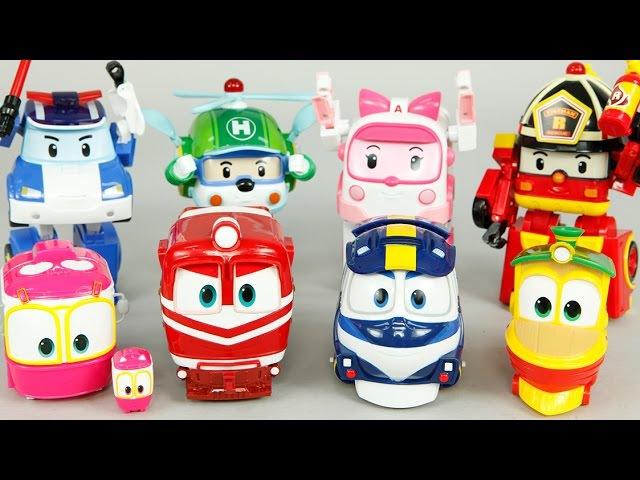 로봇트레인 로보카폴리 장난감 변신 비교 터닝메카드 미니특공대 옥토넛 GUP-X 레스큐 Robocar Poli Robot Train Toys Робокар Поли Игрушки