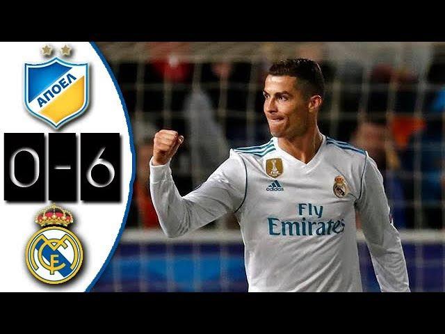 APOEL vs Real Madrid 0-6 Resumen Goles Highlights Goals UCL 21/11/2017