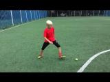 Тренировка по футболу теннисным мячом. Техника и чувство мяча. individual footba