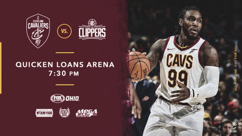 Cleveland Cavaliers vs Los Angeles Clippers on Quicken Loans Arena 17 11 2017