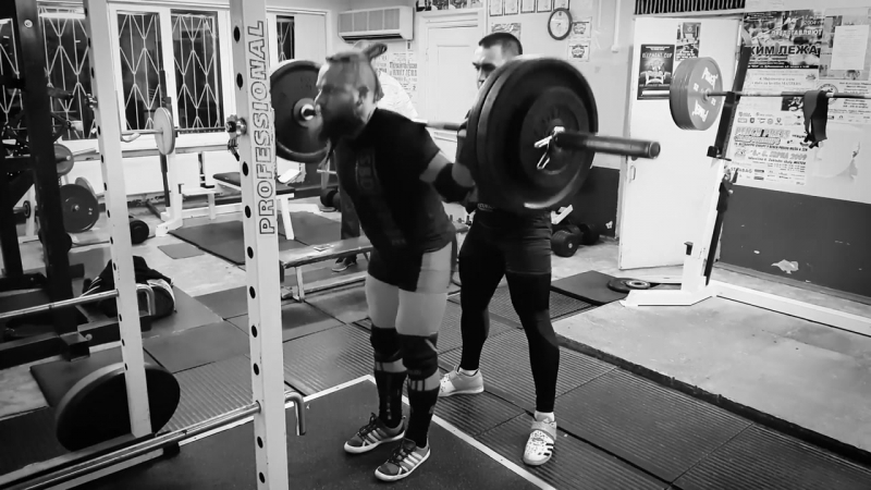 Алексей Никулин наклоны 140 кг, 160 кг, 180 кг, 200 кг на 5 раз