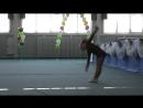 Художественная гимнастика Первое показательное выступление Много занятий пропустили но все же выступили Rhythmic gymnastics F