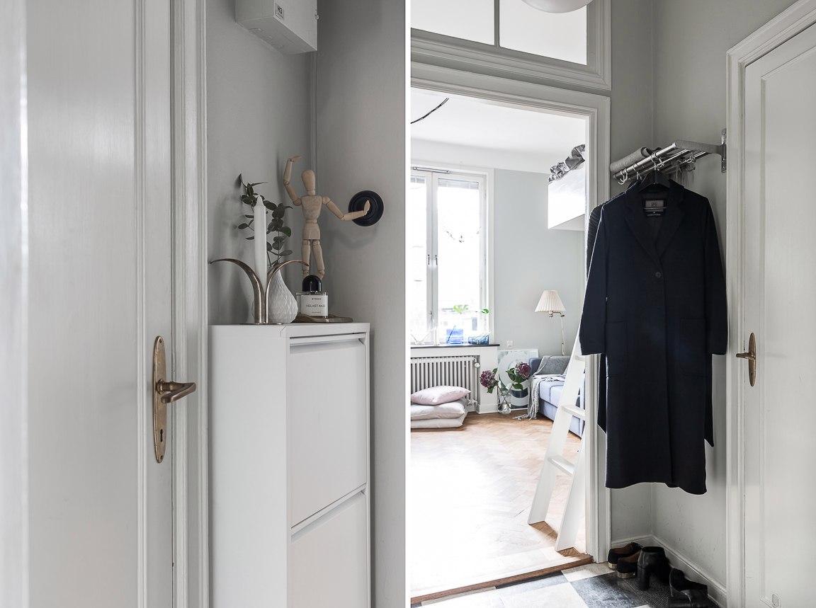 Маленькая шведская квартира-студия 22 м.