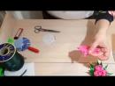 Как сделать магнитик на холодильник Букет тюльпанов из атласных лент в технике к
