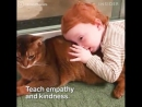 Исследования находят что собаки и кошки могут помочь улучшить психическое и физическое здоровье ребенка
