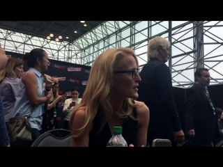 Interview with X-Files Gillian Anderson at New York Comic Con 2017
