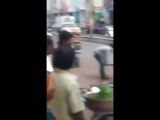 Casual Machete Murder on Street in India