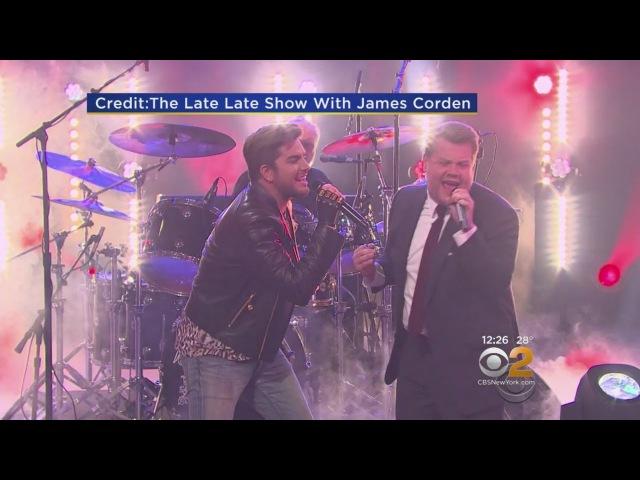 James Corden, Adam Lambert Rock Out With Queen