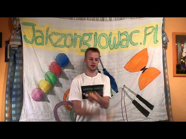 16 Windmill juggling trick tutorial Żonglowanie 3 piłkami Młynek PL with ENG subs