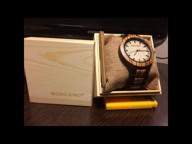 Распаковка посылок из Китая ( Деревянные Часы BOBO Rird )