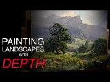 How to paint LANDSCAPES with DEPTH - Atmospheric PERSPECTIVE!