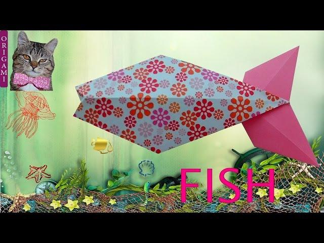 Paper fish (Designer ILDIKO H. VASS). Easy origami for children. Master Class