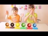 Учим цвета с конфетами M&ampMs &amp JOHNY JOHNY Yes Papa Nursery Rhymes песенки для детей