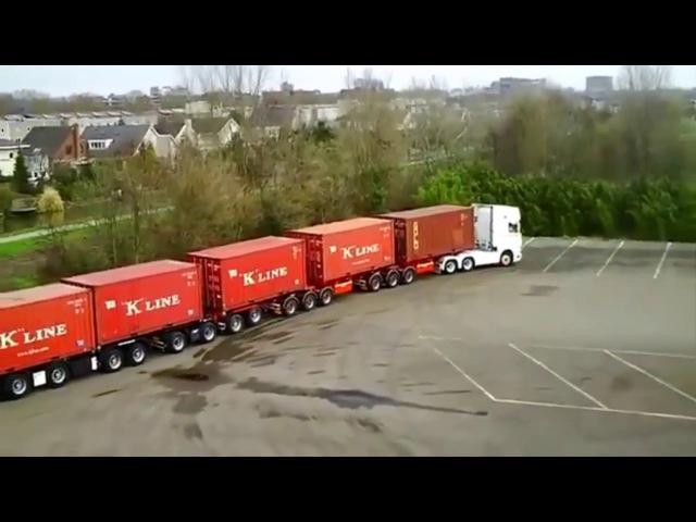 Expertos traileros maniobras impresionant professional truck drivers