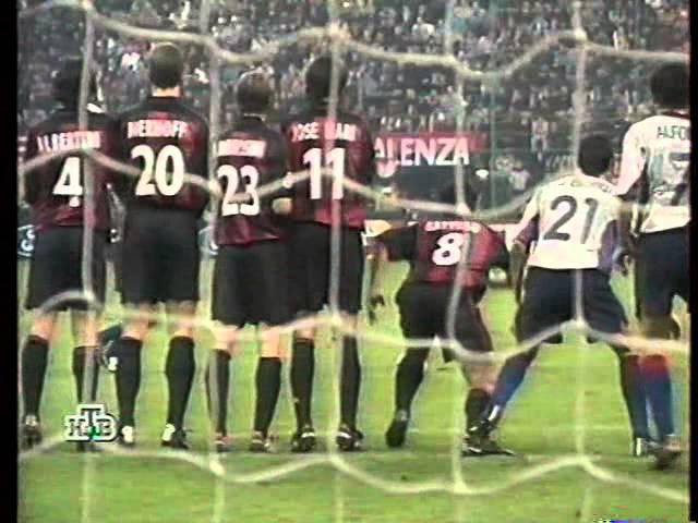 Лига Чемпионов 2000 01 Группа H 4 й тур Милан Барселона