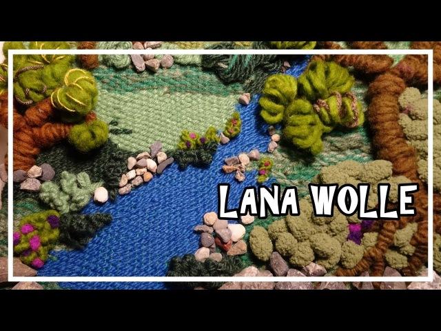 TELAR DECORATIVO PAISAJE 1 Paso a Paso. Wall hanging. Wandteppich. Tutorial Lana Wolle
