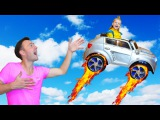 Bad Baby FLYING on Car! Learn Color with Daddy Nursery Rhymes Songs for Children Toys for Kids