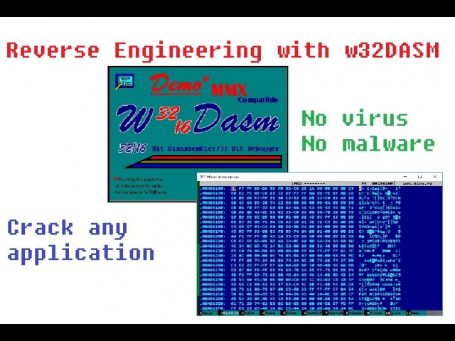 Reverse enginnering application manually with Win 32 disassembler