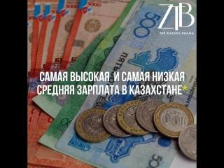 Самая высокая и самая низкая средняя зарплата в Казахстане