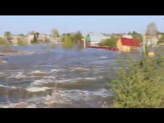 Прорыв дамбы в городе Ишим
