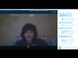 Young latino boy shows feet in a skype video session.