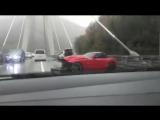 ДТП в Сочи. Суперкар разбился на вантовом мосту. 31.10.17