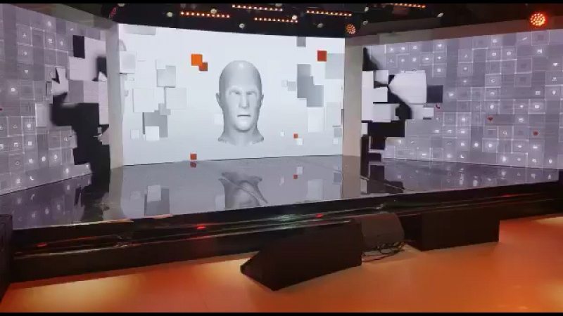 Неформатная инсталляция на мероприятие future of media - генезис контента мультимедийной головы и системы Kinect