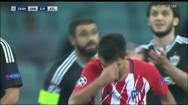 Лига Чемпионов Карабах - Атлетико Мадрид 0:0 обзор 18.10.2017 HD