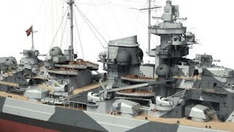 German battleship Tirpitz in 3D - Kagero Publishing's book by Stefan Dramiński