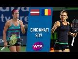 Anastasija SEVASTOVA vs Simona HALEP Highlights WTA Cincinnati 2017
