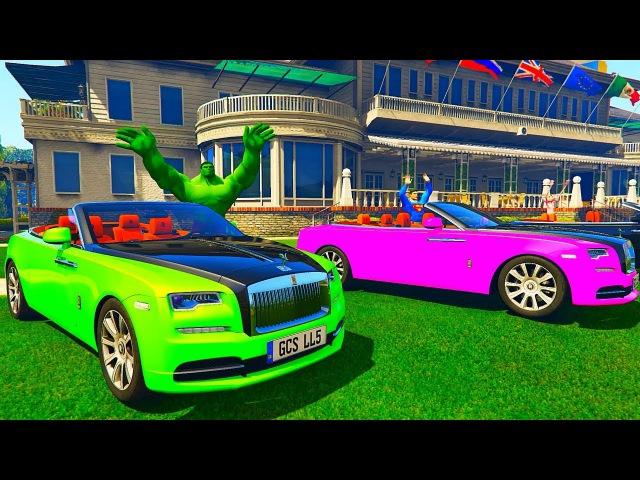 Цветные Машинки для детей и Человек Паук Мультик про машинки для малышей Мульти ...