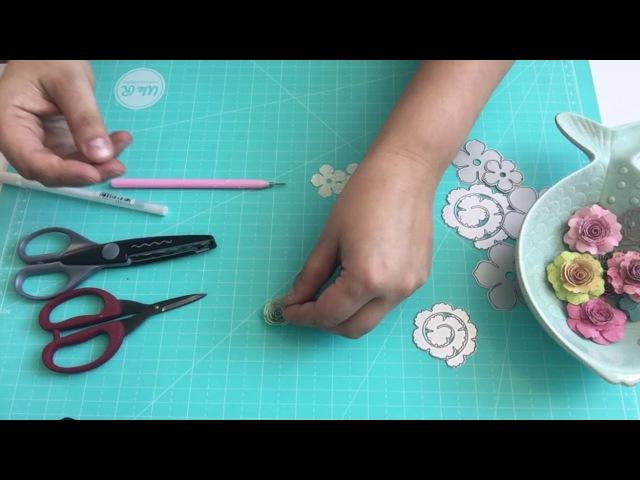 Мастер класс по изготовлению цветов из бумаги для скрапбукинга