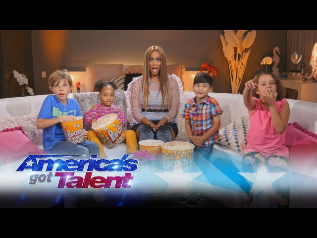 Kids React To AGT Highlights With Tyra Banks - America's Got Talent 2017