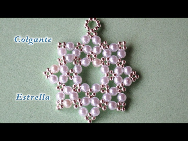 DIY - Colgante facil estrella de 8 puntas DIY - Easy 8-pointed star pendant