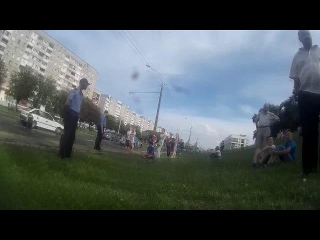 Страшная авария мотоциклиста на Рокоссовского, г Минск