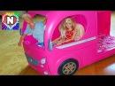 Авто домик для куклы Барби с мебелью Распаковка игрушек для девочек Barbie Pop Up Camper