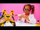 Çilgın doktor Sema Transformer'e iğne yapıyor 💉💊🤖 DoktorOyunları ÇizgiFilmOyuncakları