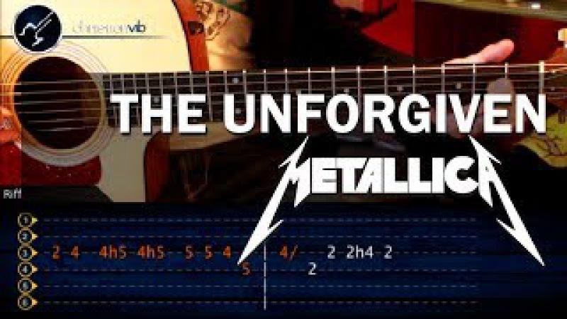 Cómo tocar The Unforgiven de Metallica en guitarra acústica (HD) Tutorial - Christianvib