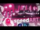 Speed Art: @JellyBrush 3D Banner - Cinema 4D Photoshop