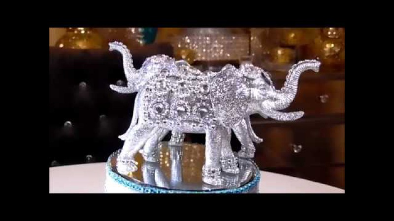 DIY - DOLLAR TREE SILVER BLING ELEPHANT - MOTHERS DAY GIFT IDEA