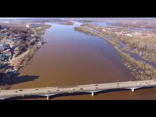 Половодье на реке Вятка. Аэросъемка 2016