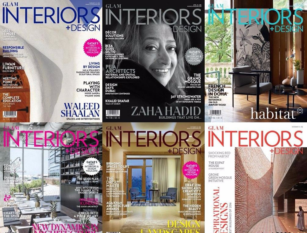Glam Interiors + Design - 2016 Full Year Issues Collection