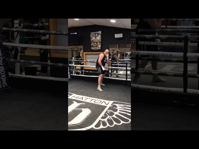 Tyson Fury is getting ready for his comeback to the ring