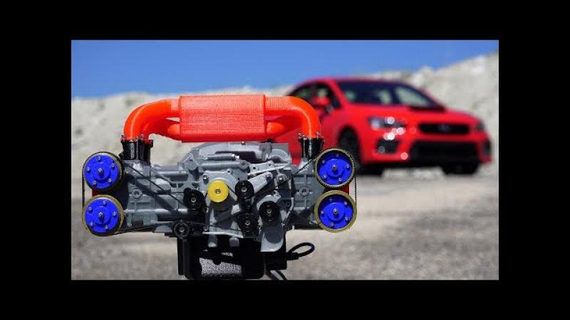 3D Printed Subaru WRX Engine - How Boxer Engines Work » Freewka.com - Смотреть онлайн в хорощем качестве