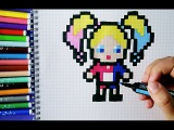 How to draw HARLEY QUINN - SUICIDE SQUAD