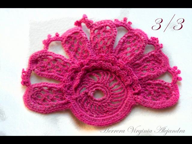Crochet irlandés - Libro DMC - Figura 27 - 3°Parte -Irish crochet lace - DMC - Fig. 27 3° Part