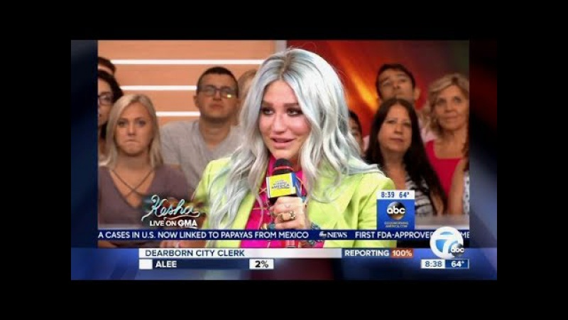 Kesha's Emotional Interview, Chats New Music (GMA)